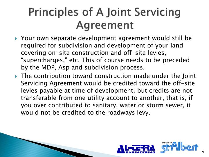 Principles of A Joint Servicing Agreement