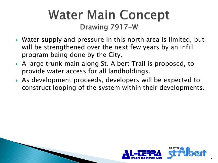 Water Main Concept