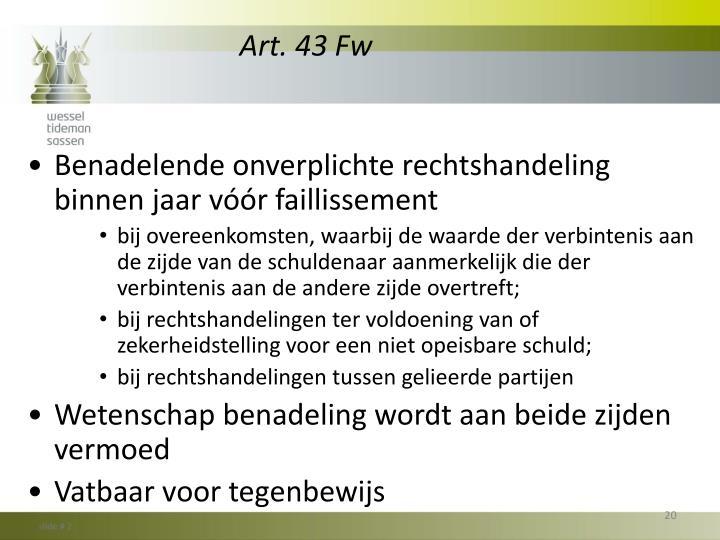 Art. 43 Fw