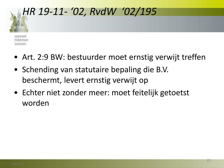 HR 19-11- '02, RvdW  '02/195