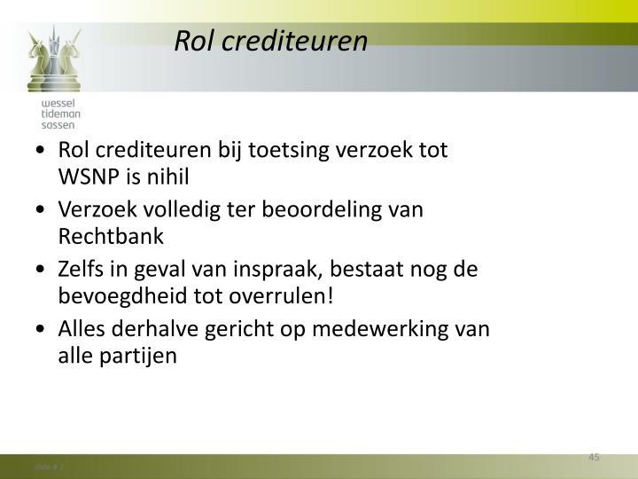 Rol crediteuren