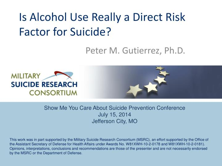 Is alcohol use really a direct risk factor for suicide