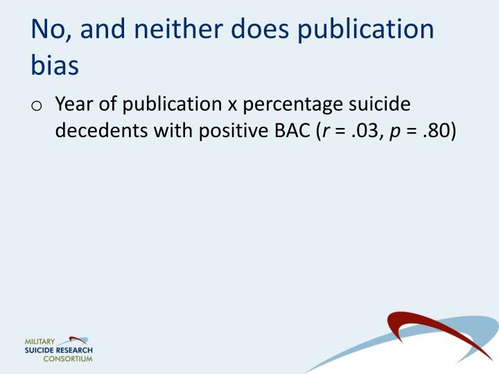 No, and neither does publication bias