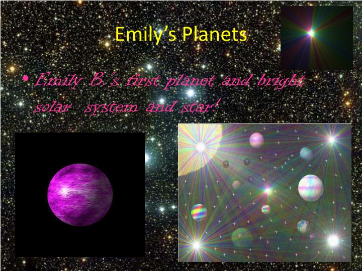 Emily's Planets