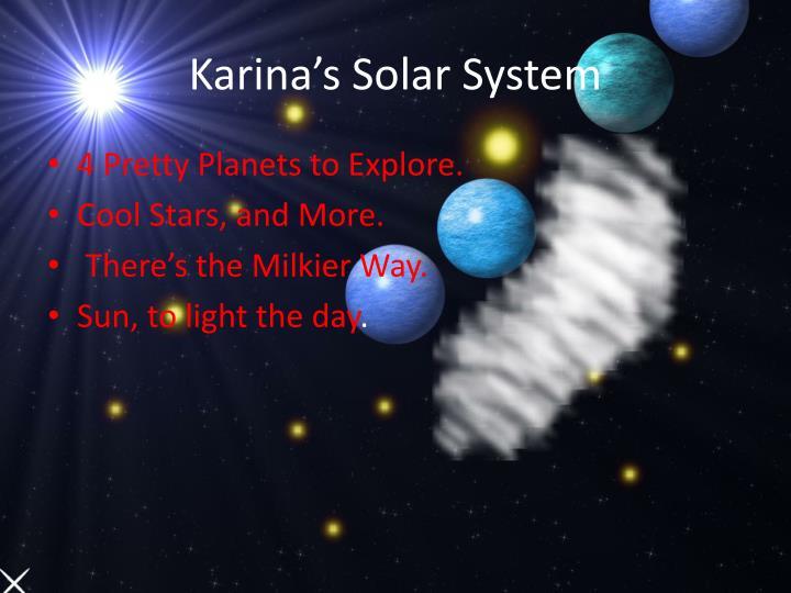 Karina's Solar System