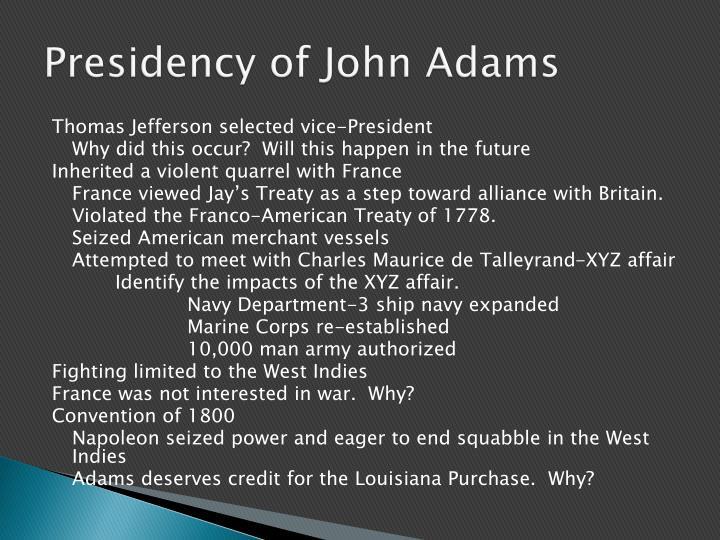 Presidency of John Adams