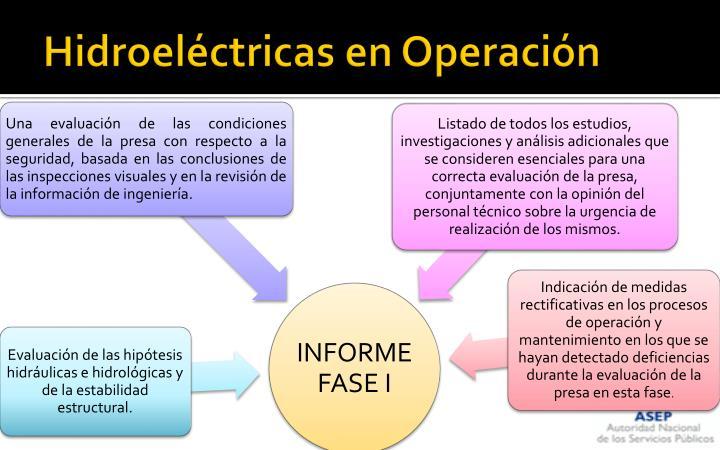 Hidroeléctricas en Operación