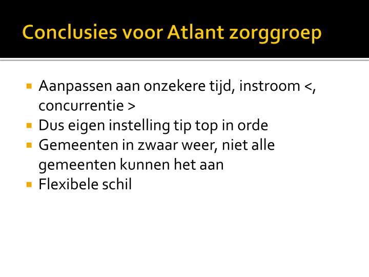 Conclusies voor Atlant zorggroep