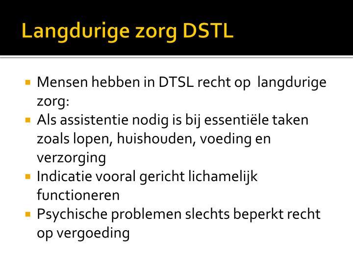 Langdurige zorg DSTL