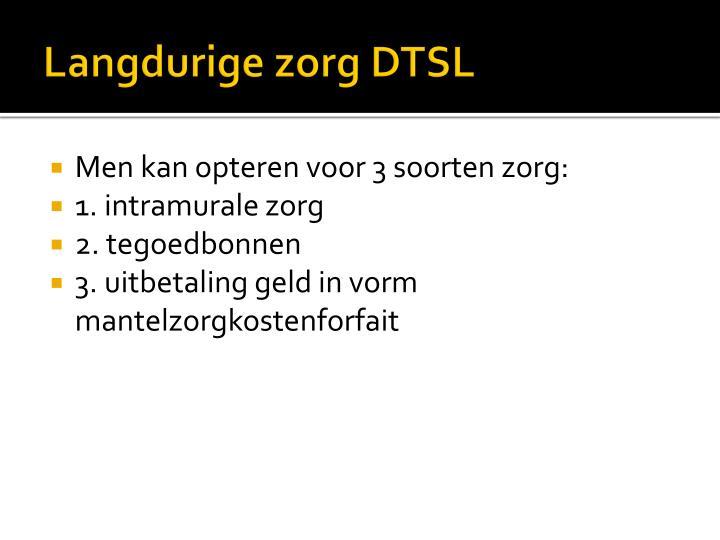 Langdurige zorg DTSL