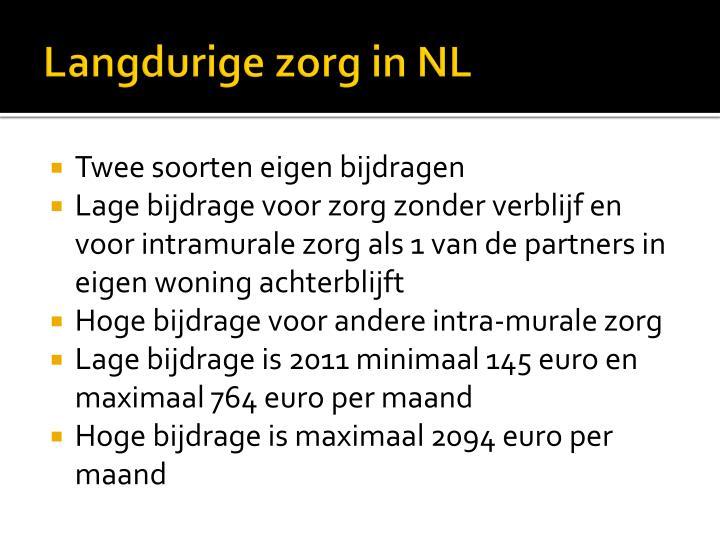 Langdurige zorg in NL