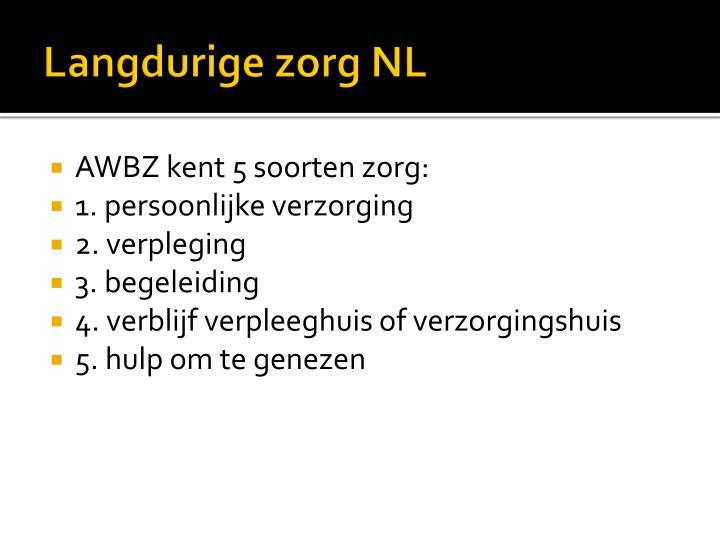 Langdurige zorg NL