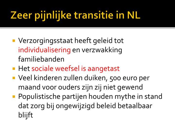 Zeer pijnlijke transitie in NL