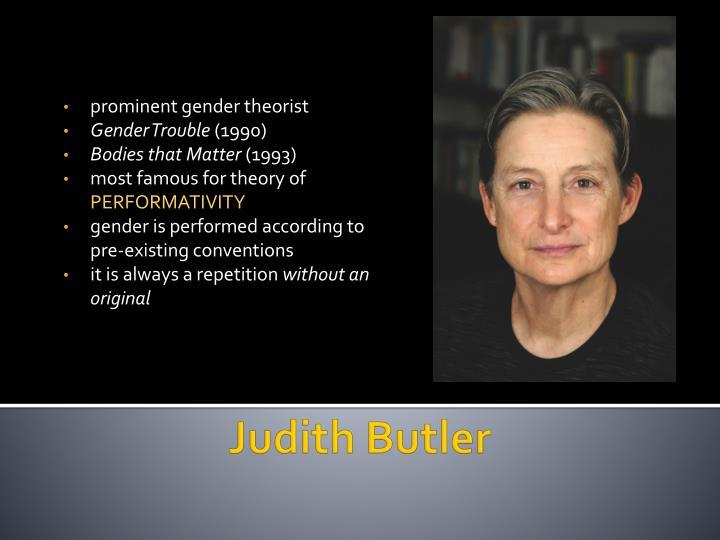 prominent gender theorist