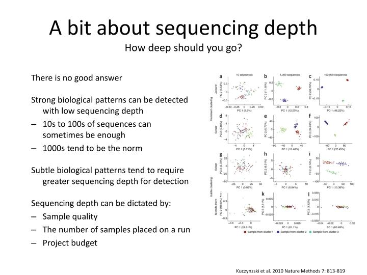 A bit about sequencing depth
