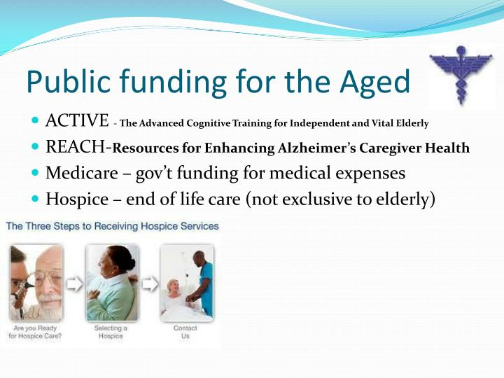 Public funding for the Aged