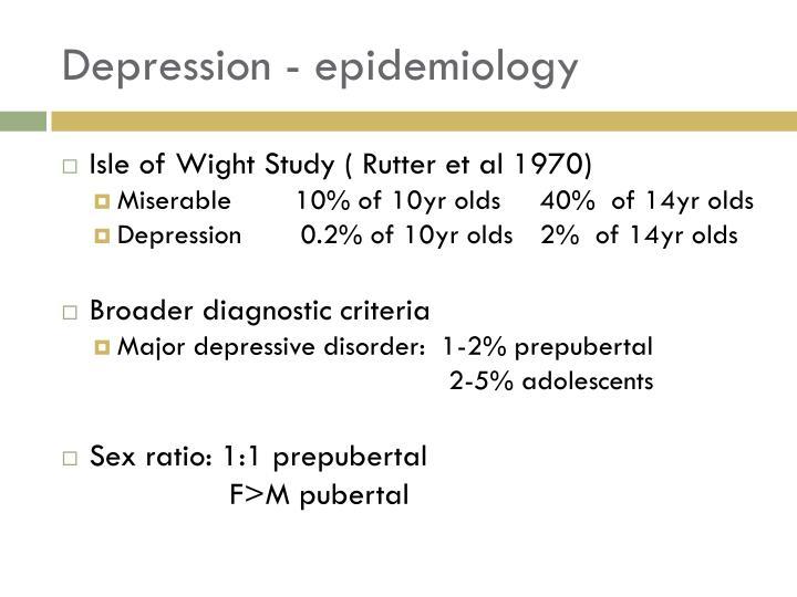 Depression - epidemiology