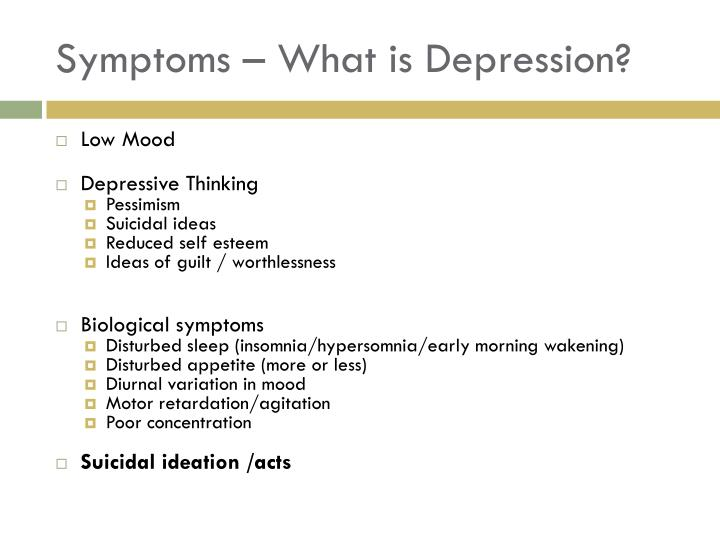 Symptoms – What is Depression?