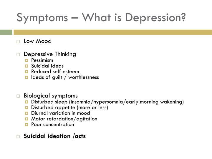 Symptoms – What is Depression?