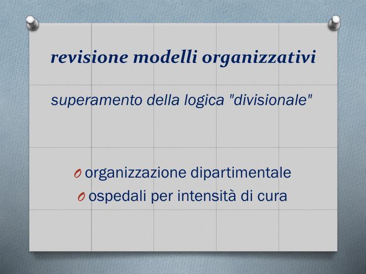 revisione modelli organizzativi