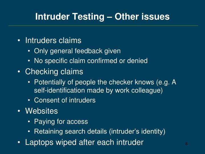 Intruder Testing
