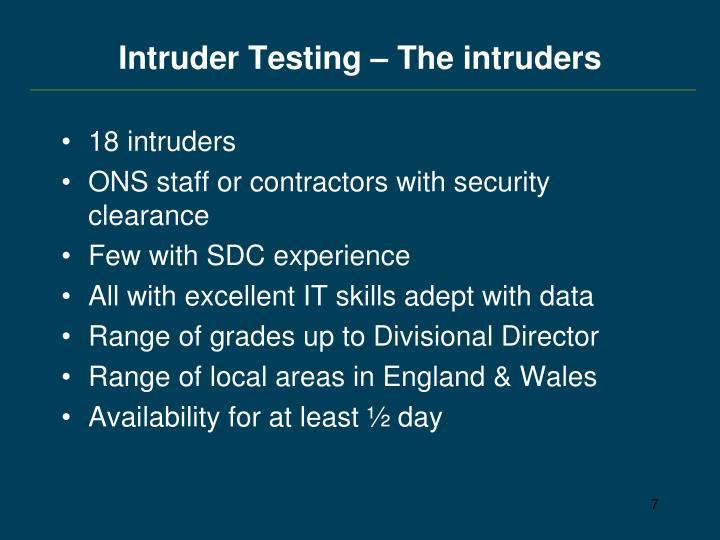 Intruder Testing – The intruders