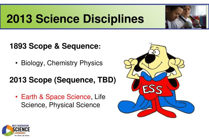2013 Science Disciplines