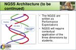 ngss architecture to be continued