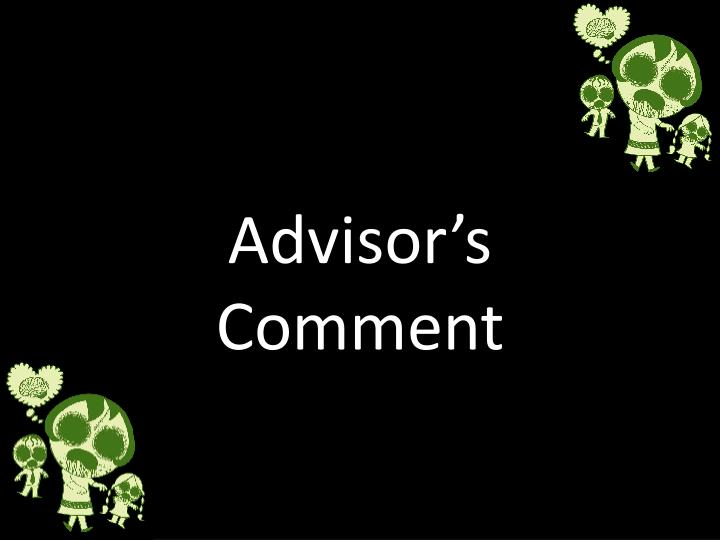 Advisor's Comment