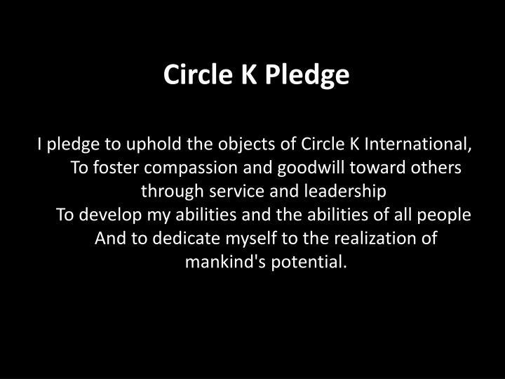 Circle K Pledge
