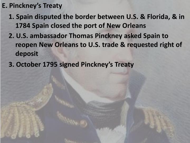 E. Pinckney's Treaty