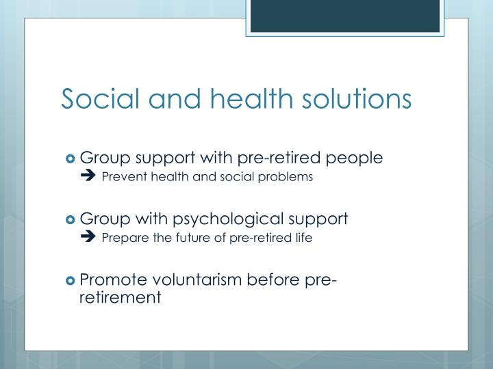 Social and health solutions