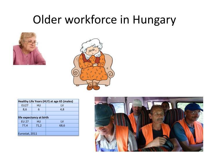 Older workforce in Hungary