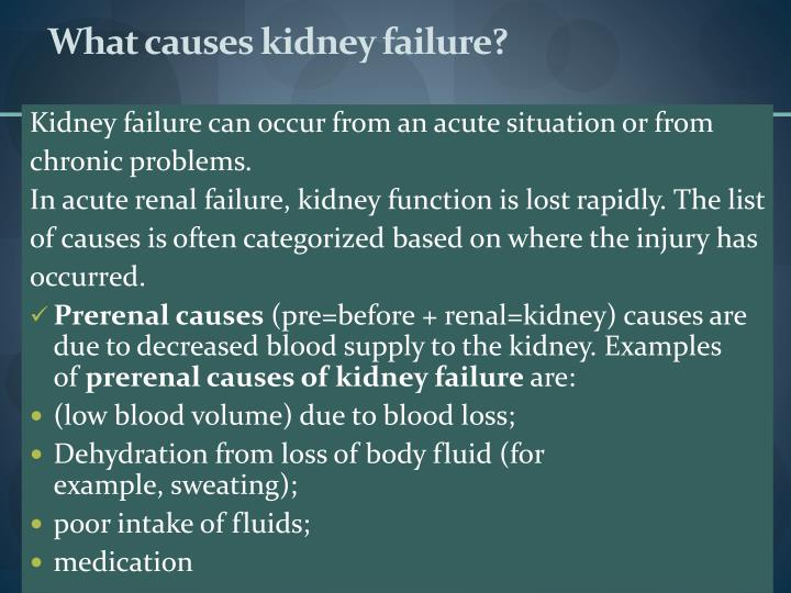 What causes kidney failure