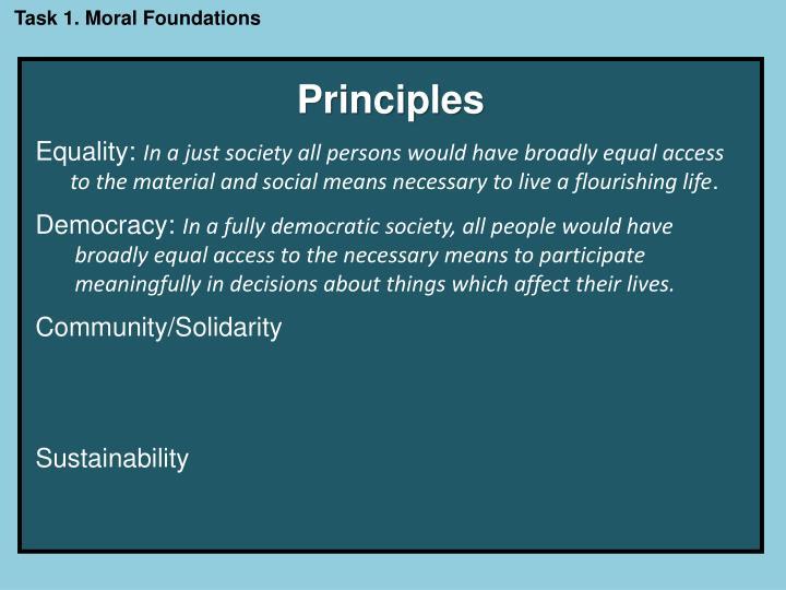 Task 1. Moral Foundations