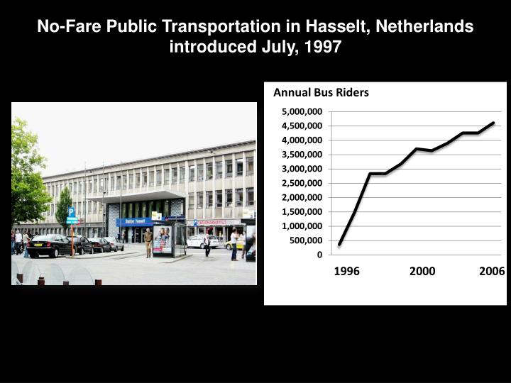 No-Fare Public Transportation in Hasselt, Netherlands