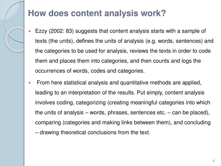 How does content analysis work?