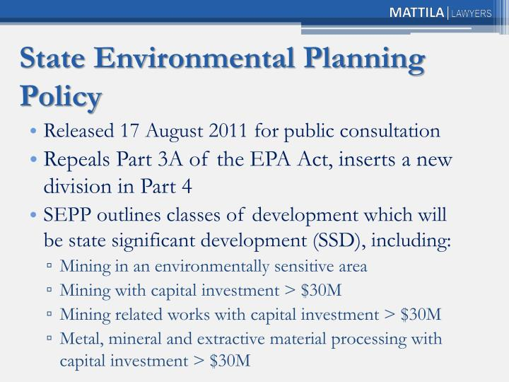 State Environmental Planning Policy