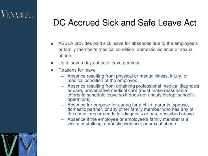DC Accrued Sick and Safe Leave Act