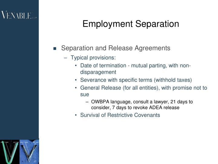 Employment Separation