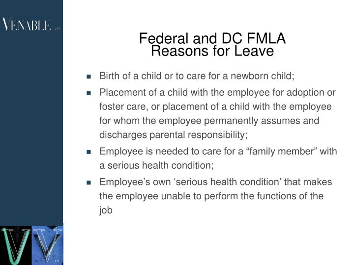 Federal and DC FMLA
