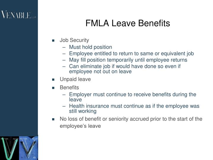 FMLA Leave Benefits