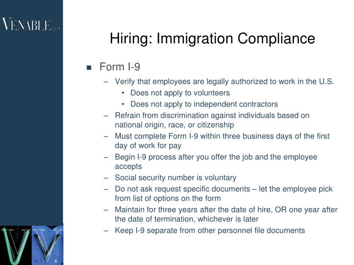 Hiring: Immigration Compliance