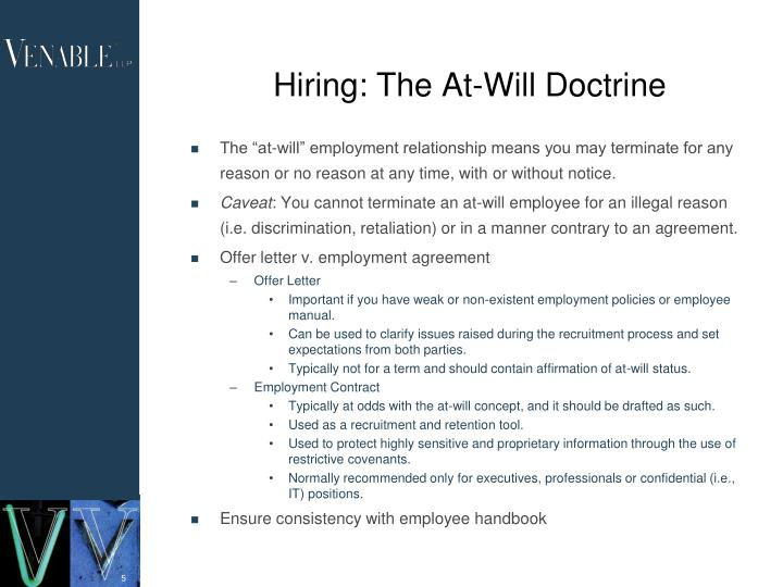 Hiring: The At-Will Doctrine