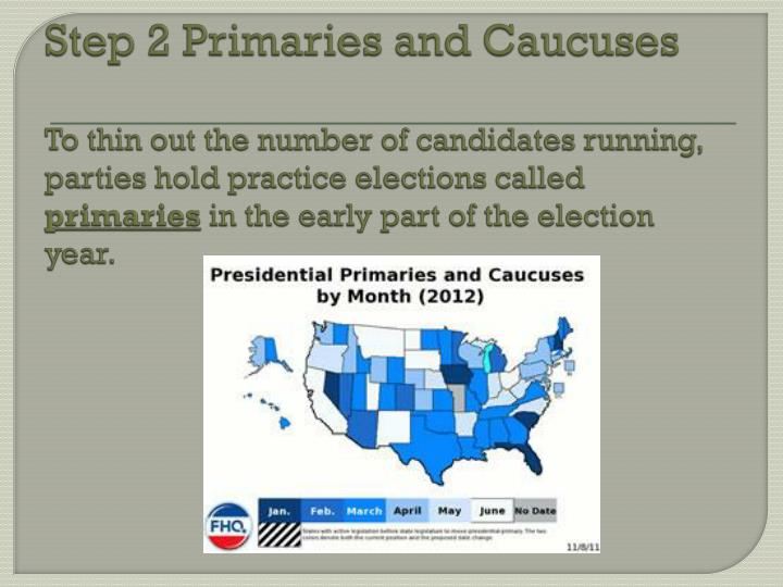 Step 2 Primaries and Caucuses