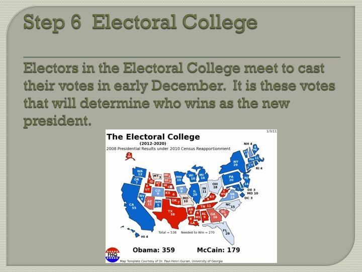 Step 6  Electoral College