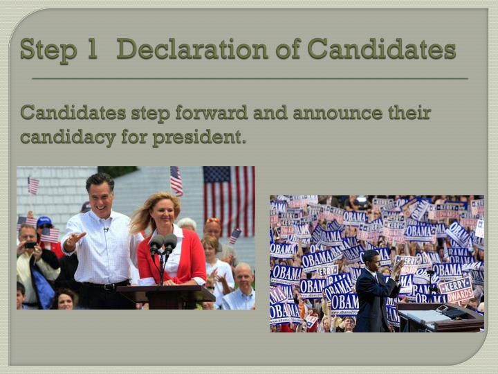 Step 1Declaration of Candidates