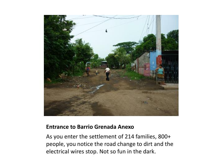 Entrance to Barrio Grenada