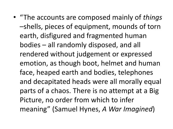 """The accounts are composed mainly of"