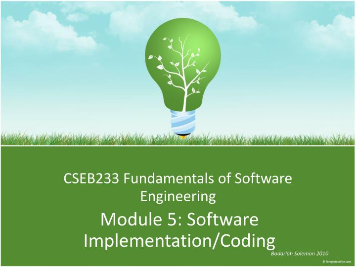 Cseb233 fundamentals of software engineering